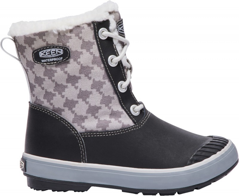 KEEN BUTY Dziecięce ELSA BOOT WP black/houndstooth 1015257